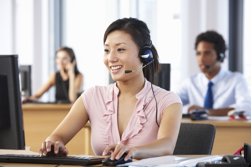 The Authorized Representative is guided by a verify i-9 form i-9 specialist during a phone call.